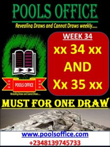 WEEK 34: POOLS DRAWS AND CANNOT DRAWS! – POOLS OFFICE